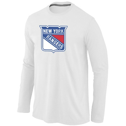 NHL New York Rangers Big & Tall Logo WHITE Long Sleeve T-Shirt