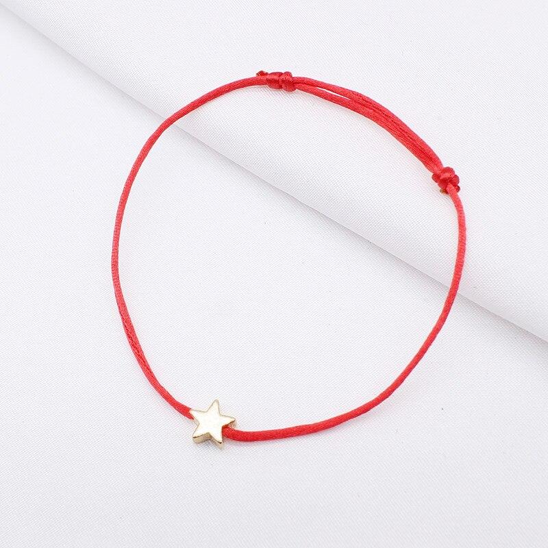 2019 new Lucky Heart star Bracelet For Women Children Red color Rope String Adjustable Handmade Bracelet Jewelry simple Bracelet 3