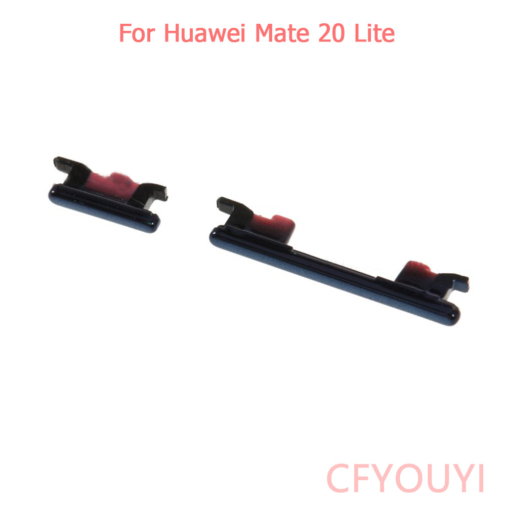 For Huawei Mate 20 Lite Power On Off Key Volume Buttons Side Button Set Parts Black Color