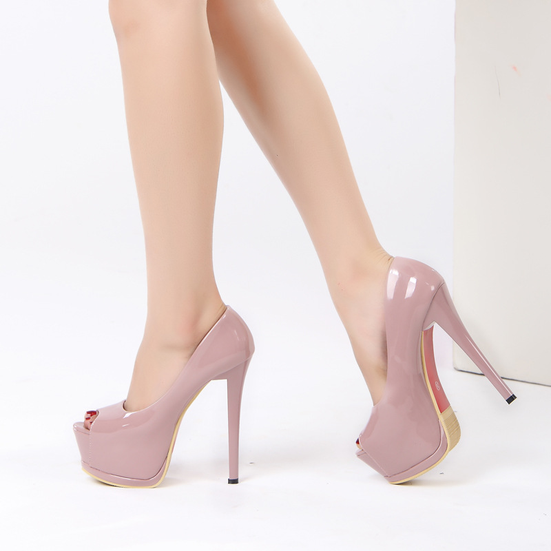 2018 women fashion Heel Concise Shallow Mouth shoes Peep Toe Thin Heels shoes pumps Wedding Party Super High 14cm shoes XA-07 high quality women shoes colorful rhinestone shallow mouth high heels mature women pumps round toe slip on party wedding shoes