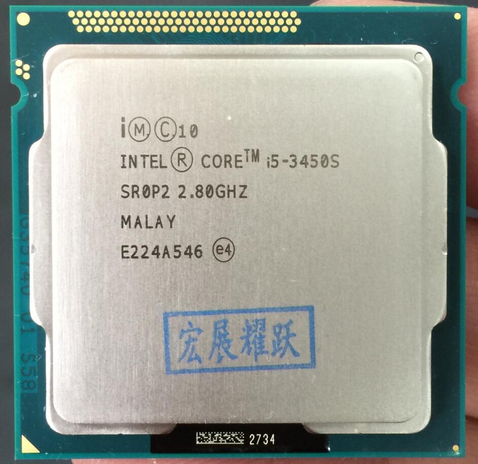 Intel Core i5 3450 S i5-3450S PC ordinateur de bureau processeur d'unité centrale LGA1155 ordinateur de bureau CPU 100% fonctionnant correctement processeur d'ordinateur de bureau
