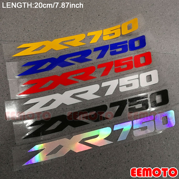 Motorcycle body Wheel Rims Fairing Helmet Tank Pad Label logo reflective Stickers Decals For KAWASAKI ZXR 750 ZXR750