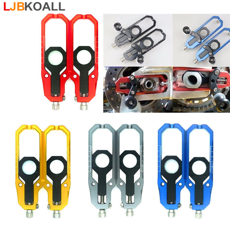 For Suzuki GSXR 600 750 2006 2007 2008 2009 2010 CNC Aluminum Left & Right Chain Adjusters with Spool Tensioners Catena 5 Colors waase aluminum chain adjusters with spool tensioners catena for yamaha yzf r6 2006 2007 2008 2009 2010 2011 2012 2013 2014 2016