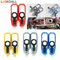For Suzuki GSXR 600 750 2006 2007 2008 2009 2010 CNC Aluminum Left & Right Chain Adjusters with Spool Tensioners Catena 5 Colors