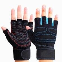 1 Pair Riding Gloves Sports Fitness Gloves Wrist Weightlifting Hand Half Finger Gloves Gym Training Bodybuilding Sports Gloves цены