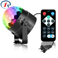 ZjRight IR Remote LED Crystal Rotating Ball Stage Light Kids Dancing Birthday Effect Light Dj Holiday