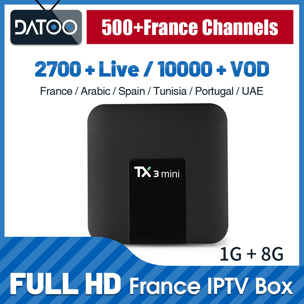 Image 1 - TX3 mini IPTV France Arabic 1 Year IPTV Code Qatar Algeria IP TV Germany Turkey IPTV Subscription TV Box Portugal IP TV French-in Set-top Boxes from Consumer Electronics