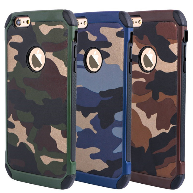 premium selection 07f2a bfdc0 US $4.25 |2in1 Hybrid Hard Plastic+Soft TPU Army Camo Camouflage Cases for  iPhone 5 5S SE 6 6S 6Plus 7 7PlusProtect Phone Cover-in Fitted Cases from  ...