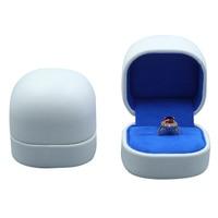 Box For Jewelry Free Shipping 2pcs Lot 6 5 6 3cm PU Ring Earring Wedding Gift