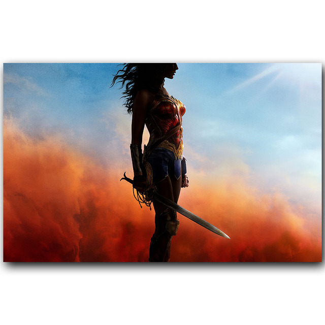 Bianche Wall Wonder Woman Movie DC Comics Art Silk Fabric Poster Huge Print Picture Home Wall Decoration