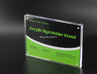 14 8 21CM 20pcs A5 Thickness 23mm Magnetic Display Stand Poster Photo Frame Acrylic Table Menu