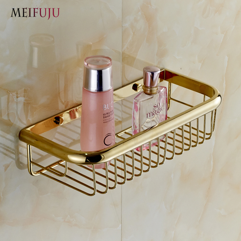Fashion Shampoo holder 30cm Wall Mounted Strong Brass made and ...