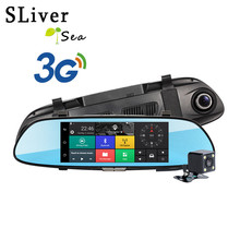 SLIVERYSEA 7 3G Car Camera DVR GPS Bluetooth Dual Lens Rearview Mirror Video Recorder Full HD 1080P Automobile Dash