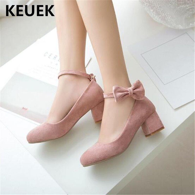 New Spring/Autumn Leather Shoes Children High-heeled Shoes Girls Princess Pink Beige Flock Bowtie Student Dance Shoes Kids 02