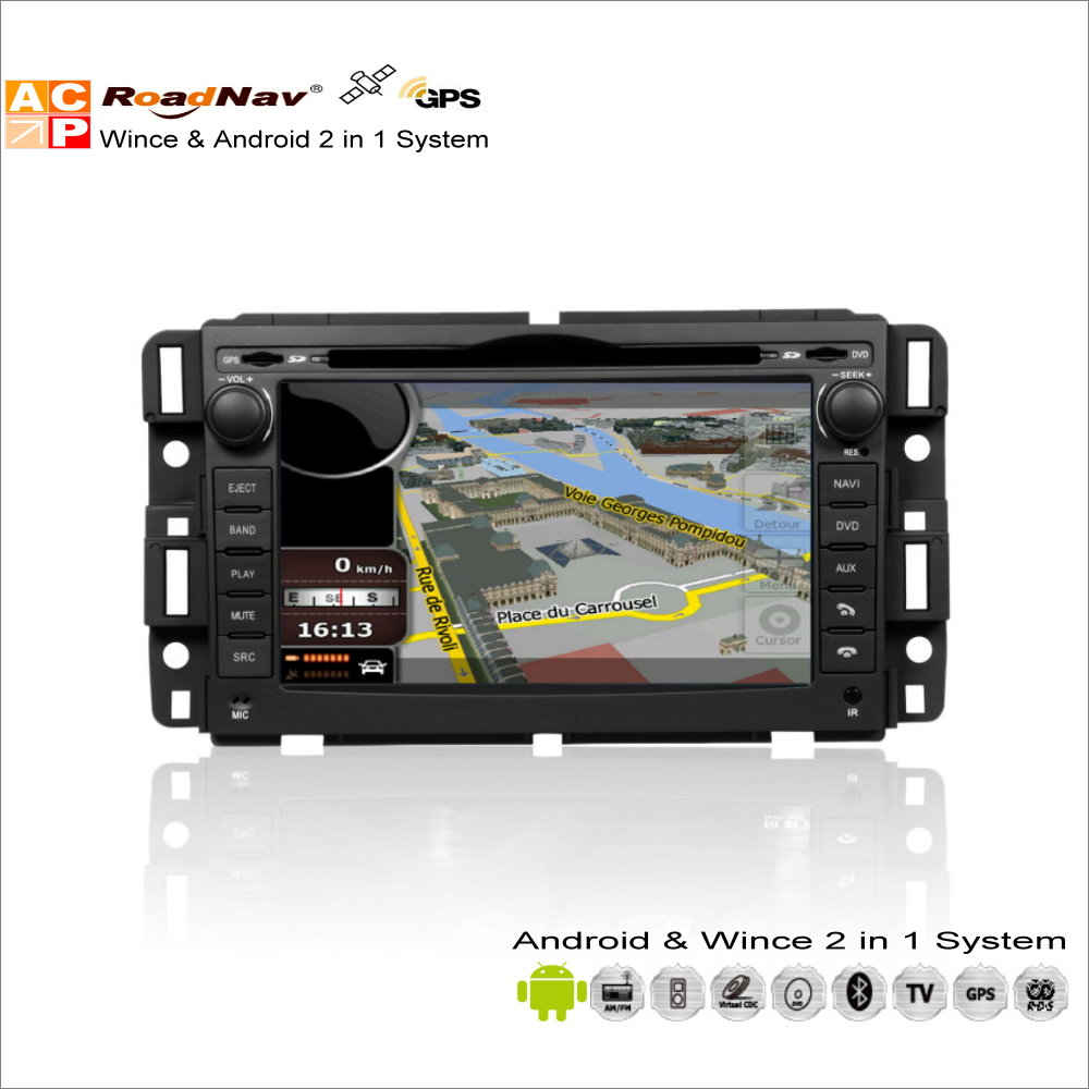 For gmc sierra savana acadia youkon car radio cd dvd player gps navigation advanced wince android 2 in 1 s160 system