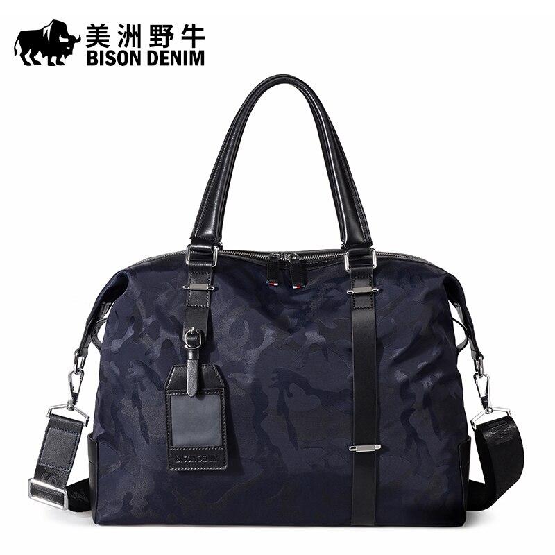 Brand BISON DENIM Men's Briefcases Men Shoulder Bags Brand Fashion Handbag Canvas Messenger Bag Travel Tote Laptop Bags