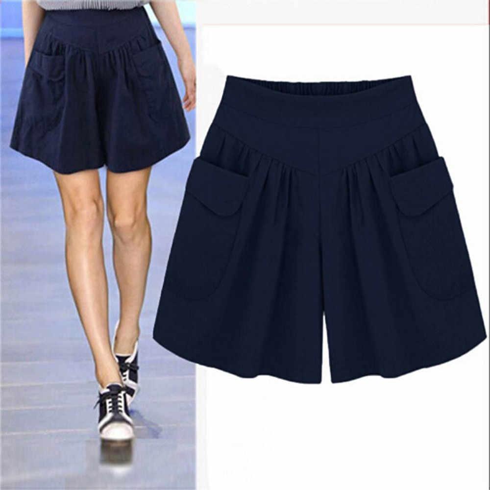 Spodenki jeansowe wysokiej talii rozmiar kobiet krótkie dżinsy dla kobiet pół długie letnie damskie gorące spodenki stałe Tassel Denim spodenki # YL5