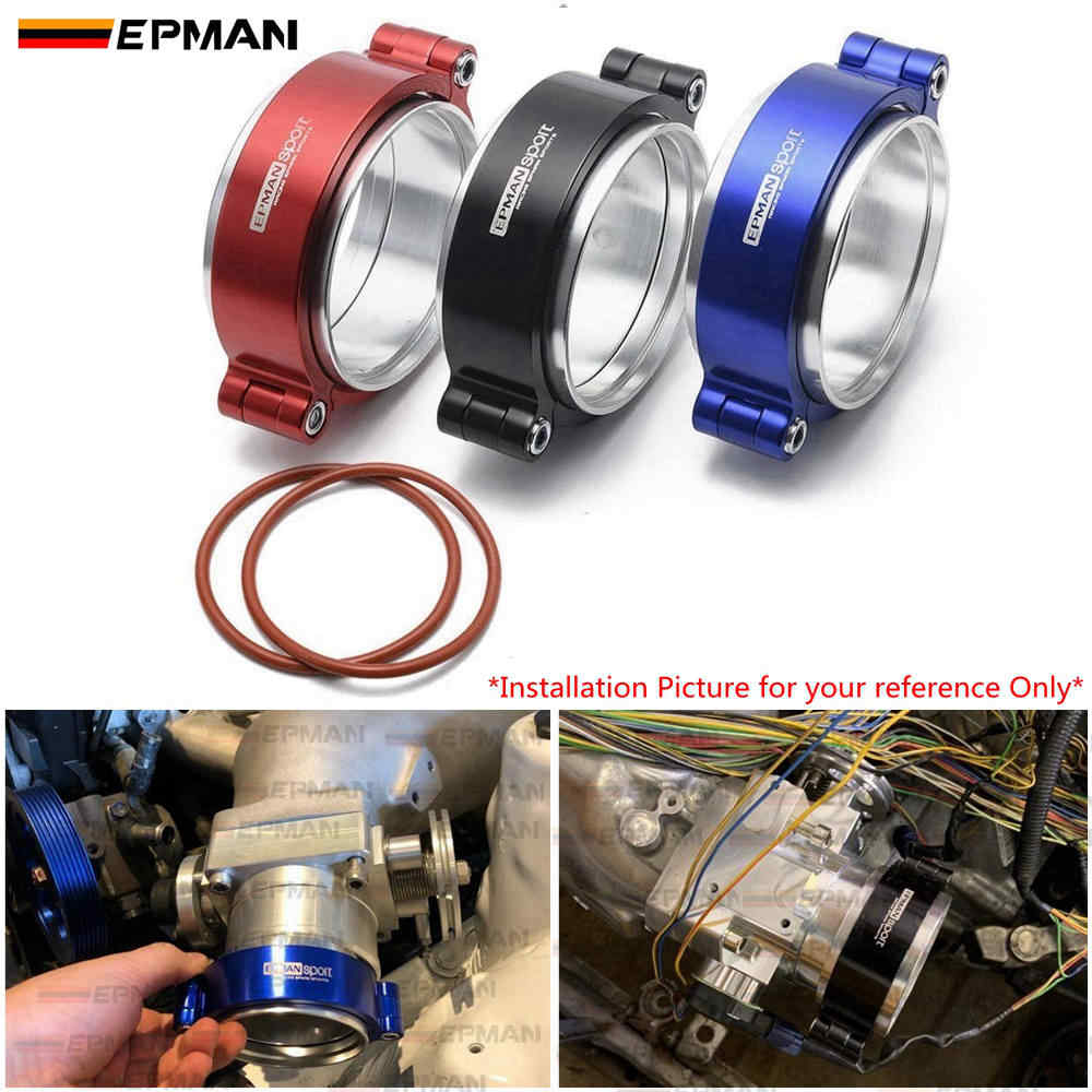 "Epman HD Exhaust V-Band Clamp System Assembly Anodized Clamp W Flange untuk 3.5 ""OD Turbo Intercooler pipa EPKKA89"