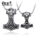316L STAINLESS Steel  fashion pendant mens Nordic myth Thor big/small jewelry high quality