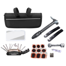 Multifunction 19 in 1 Kit Cycling Functions Kit Bicycle Tools  Tire Repair Kit Flat Tool Set with Pouch Pump Bag sahoo 15 in 1 cycling bicycle tools bike repair kit set with pouch pump black bicycle accessories mountain screwdriver tool