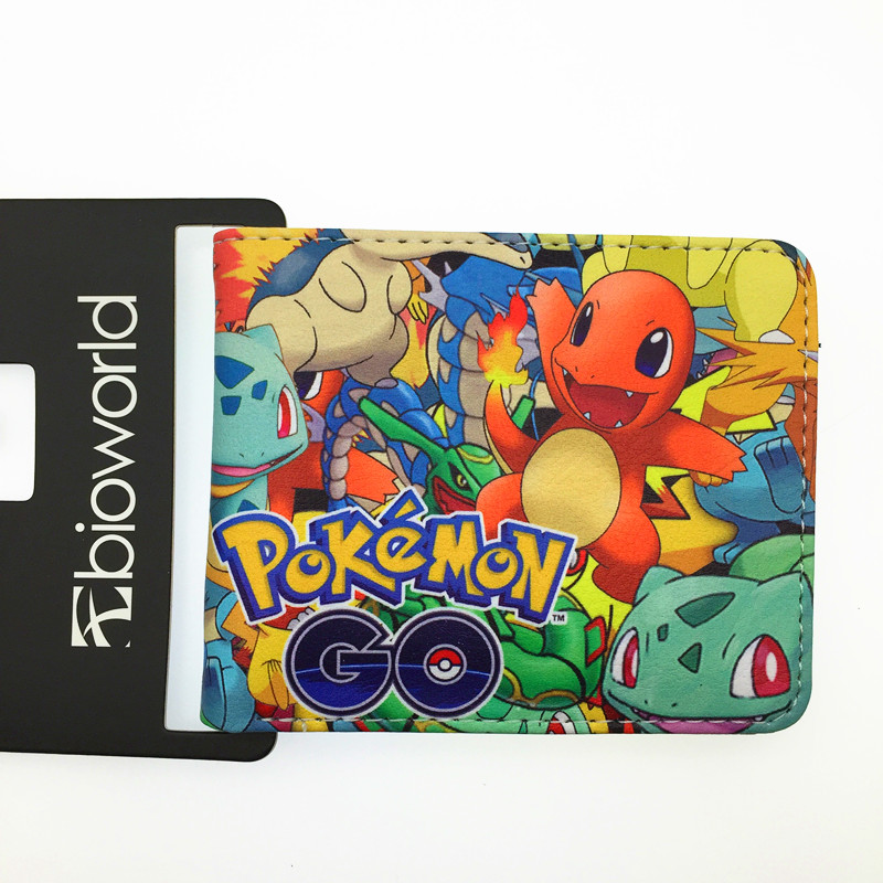Wholesale Hot Game Pokemon Go wallet Pikachu Wallets Lovely students Women Men wallets Best Purse Gift For Kids pokemon go print purse anime cartoon pikachu wallet pocket monster johnny turtle ibrahimovic zero pen pencil bag leather wallets