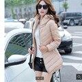 Las mujeres Ropa de Invierno ropa de algodón acolchado Edredón de algodón Escudo yardas Grandes MS BN014 Gruesa Con Capucha Mujeres chaqueta de Invierno