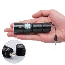 3 Mode Tactical Flashlight Torch Mini Zoom Rechargeable Powerful Waterproof USB LED Flashlight AC Lanterna For