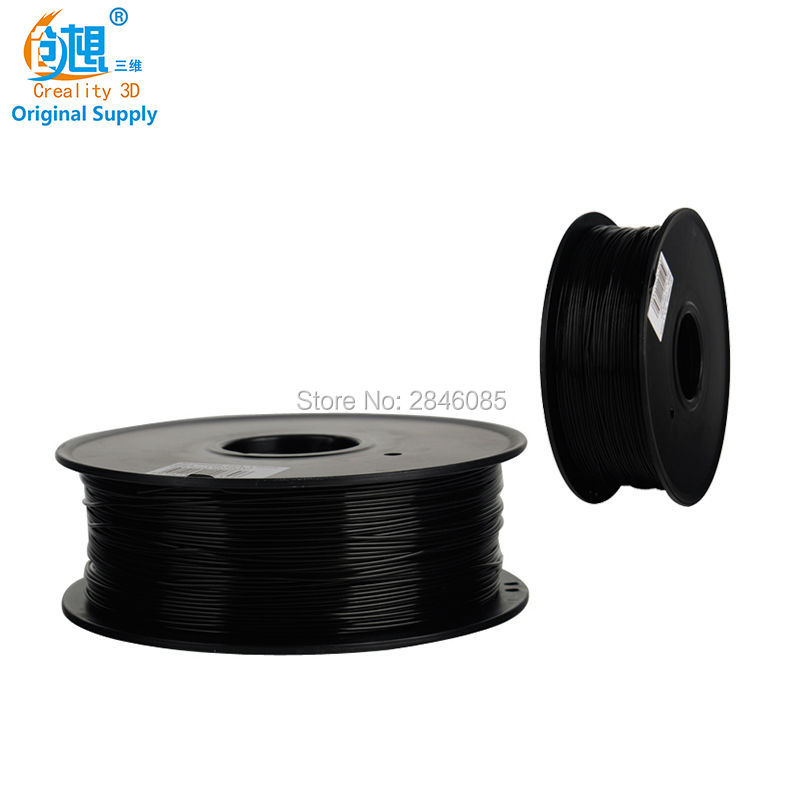 Best Price CREALITY 3D TPU Filament Black Color 3D Printer Samples 1KG/roll 1.75mm for 3D Printer /3D Pen/Reprap/Makerbot anet a6 a8 reprap 3d printer full acrylic assembly diy 3d printer kit with auto sensor 1roll filament sd card filament holder