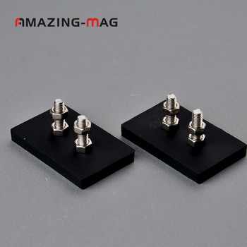2PC 7.5KG Vertical Pull-force Neodymium Rubber Coated Block Magnet Taxi Sign LED Surface Protecting Magnetic Mount Holder