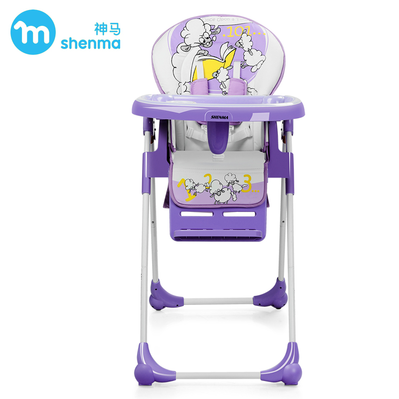 SHENMA adjust height baby dining chair, portable kids highchair, adjustable child feed chair, multifunctional chair one key fold soft portable baby feed chair gift pillow and rope 4wheels baby booster seat light baby feed chair