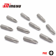 "10Pcs 1/4"" 25mm Phillips PH2 Screwdriver Bit Set Repair Tools Screwdrivers Kit Hex Shank Drill Bit For Power Household Hand Tool(China)"