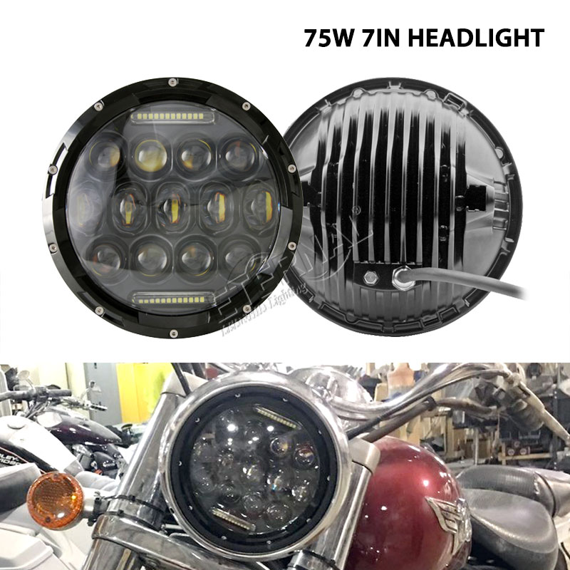 free shipping pair 75W offroad led headlight round 7 Wrangler Rubicon offroad Harley SUV led headlamp 4x4 led driving light амортизаторы bilstein в6 offroad