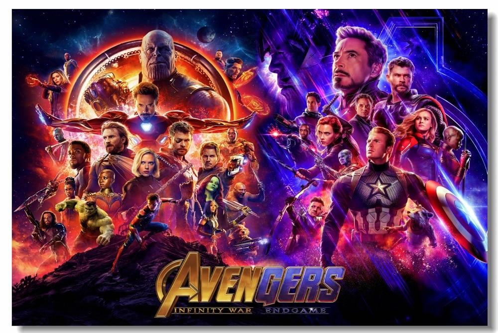 Custom Printing Wall Decor Avengers 4 Endgame Infinity War Poster