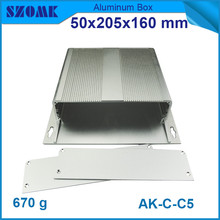 4pcs/lot wall mounted aluminium extrusion box for projector in silver outlet junction case 50*205*160mm