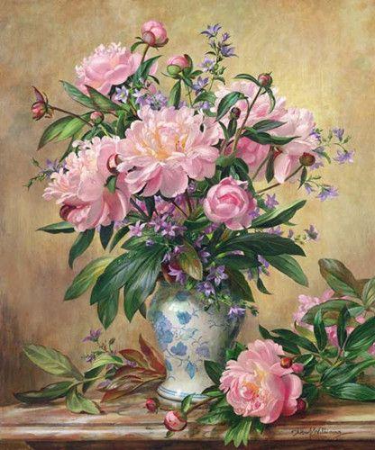 New Needlework,Pink Peony in Vase DMC Cross stitch,14CT Unprinted Embroidery Flower kits Arts Cross-Stitching,DIY Handmade Decor