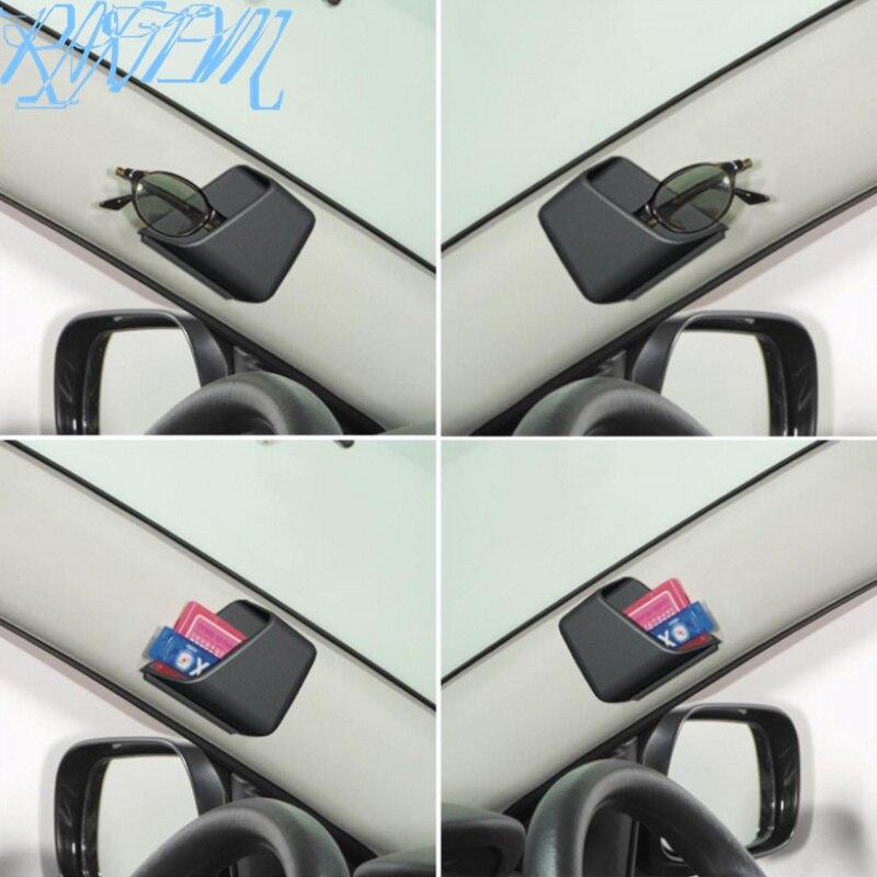 2PCS Car Auto Accessories Glasses Organizer Storage Box for Ssangyong Tivoli XLV Kyron Actyon Korando Rexton Rodius(China)