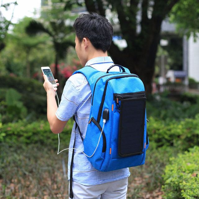 Outdoor Multi-function Solar Panel Breathable Backpack  4