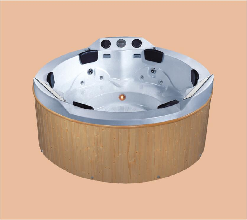2200mm Round Swimming Pool whirlpool Bathtub Hydromassage Surfing SPA Multy People Seats With TV/DVD  NS2004