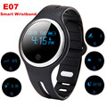 Black & white E07 Waterproof IP67 Smart Wristband Bluetooth 4.0GPS Tracks Monitor Smart Bracelets smart watch For Iphone Samsung