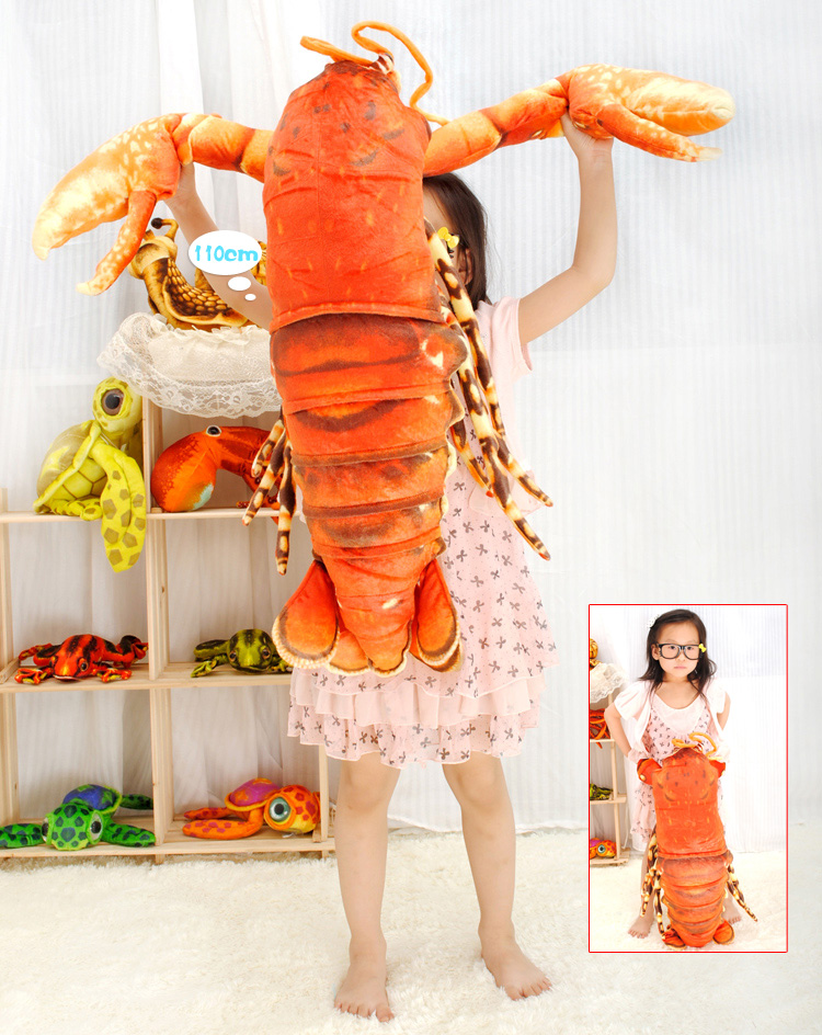 new big creative plush lobster toy simulation red lobster doll gift about 110cm big lovely simulation cow plush toy creative stuffed cow doll birthday gift about 75cm