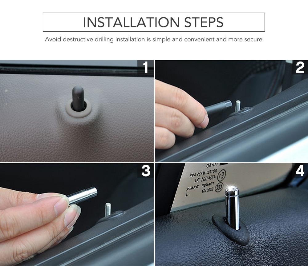 Image 5 - 4Pcs Car Door Lock Stick Pin Cap Trim For Chevrolet Cruze Trax Malibu for Opel Mokka ASTRA J Insignia Sport Tourer-in Car Stickers from Automobiles & Motorcycles