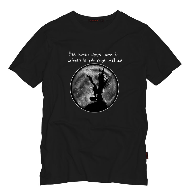 Death Note Ryuuku Mens Printed T Shirts Adult Short Sleeved Casual T-Shirt Fashion Tops Mens Top Summer Cotton Tees Short Sleeve