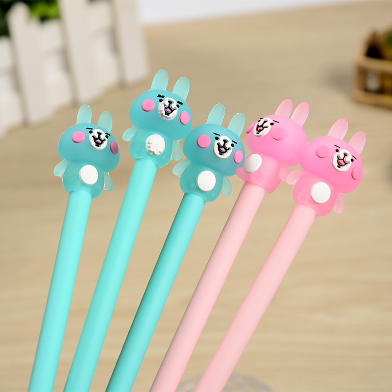 Image 2 - 100 Pcs Cute Water Pen and Neutral Pen of Small Animal Powder Rabbit  Pens for School  Stationary kawaii school supplies-in Gel Pens from Office & School Supplies