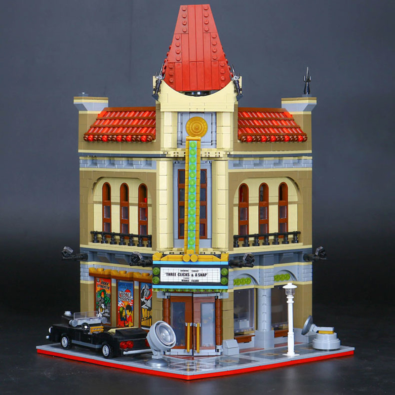 Lepin 15006 City Street View Series Genuine Cinema Model Sets legoing 10232 Construction Building Blocks Bricks Funny Toys Gift city architecture mini street scene view reims cathedral police headquarters library fire departmen building blocks sets toys