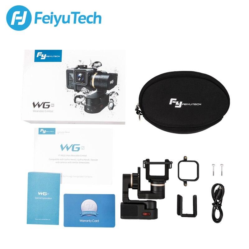 Feiyu Tech FY Feiyu WG2X stabilisateur de cardan portable à 3 axes étanche pour Go pro Hero7 6 session Xiaomiyi 4/5 Yi 4 K