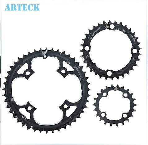 22T 32T 44T MTB Mountain Bikes Road Bicycles Crank Hollow Repair Crankset Chainrings Tooth Slice Parts part shipping