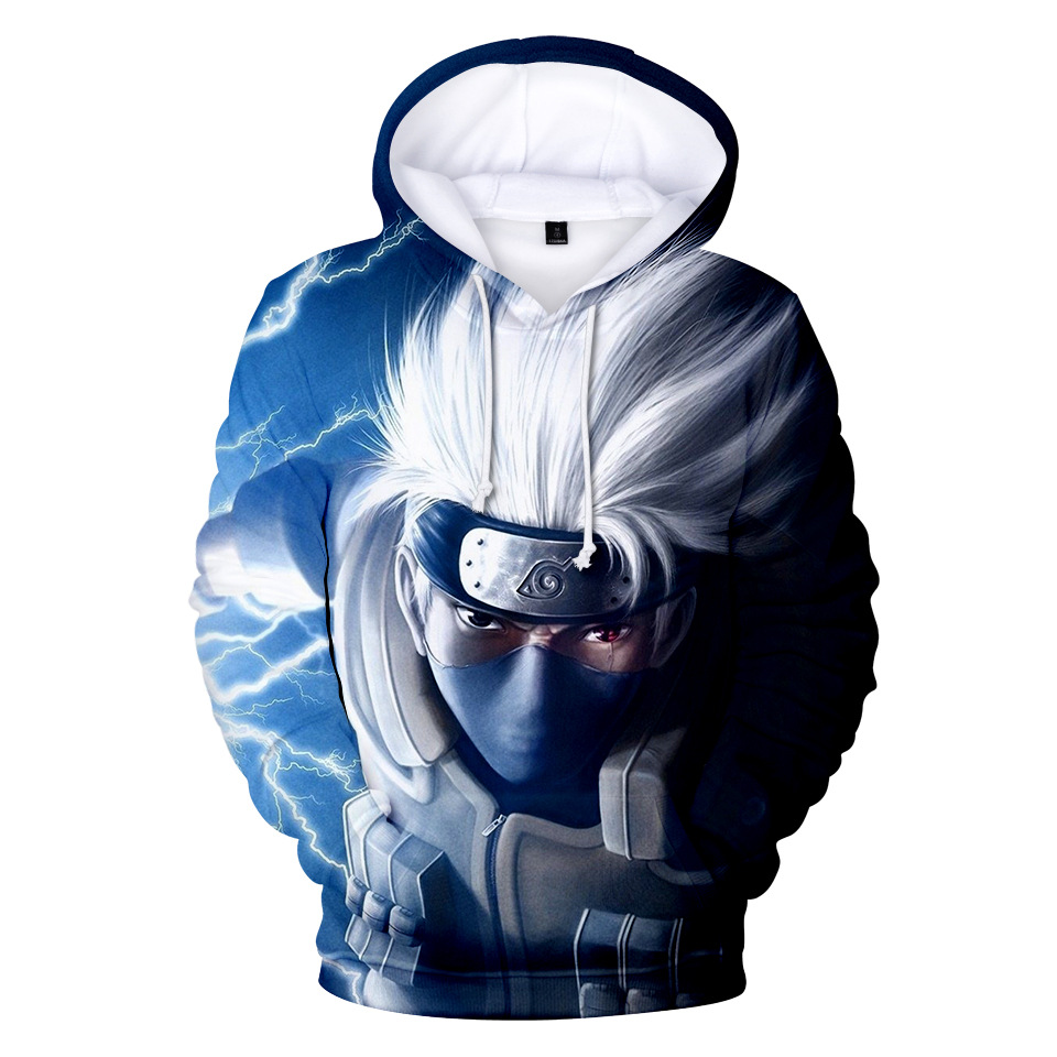 NEW Naruto Hoodie Coat Puiiover Sweatshirts Kakashi Sasuke 3D Hoodies Pullovers Men Women Long Sleeve Outerwear Hoodie OPQ