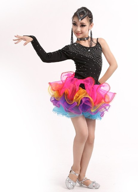 955b2675478c Girl children s Latin Dance Dress rumba samba Clothes Girls Salsa ...