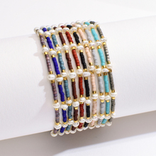 ZMZY Small Irregular Pearl Crystal Beads Charm Bracelet Thin Glass Handmade Weave String