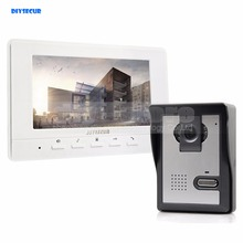 DIYSECUR 7inch Video Intercom Video Door Phone 1 Camera 1 Monitor for Home / Office Security System